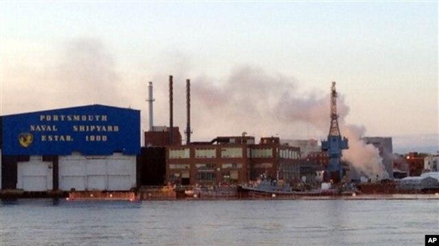 Vatra na nuklearnoj podmornici u Portsmutu u Mejnu, 23. maja 2012.