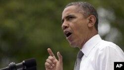 Барак Обама на выступлении в Цинциннати, Огайо. 17 сентября 2012 года