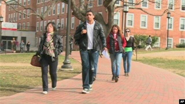 Scene at US college