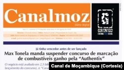 Newspaper, Canal de Moçambique