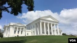 資料照片:位於里士滿的弗吉尼亞州州議會大廈。