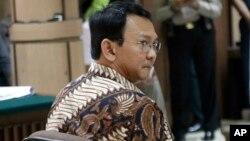 Gubernur DKI Jakarta non aktif, Basuki Tjahaja Purnama pada sidang tanggal 13 Desember 2016 lalu (foto: dok).