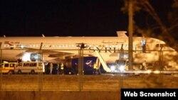 انقرہ میں اتارا جانے والا شام کا مسافر بردار طیارہ