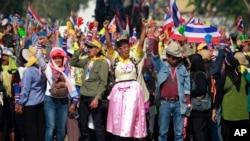 Người biểu tình chống chính phủ tuần hành trong thủ đô Bangkok, 24/1/14