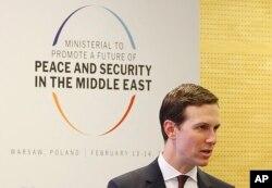 Arhiva - Viši savetnik Bele kuće Džard Kušner prisustvuje konferenciji o miru i bezbednosti na Bliskom istoku u Vašravi, Poljska, 14. februara 2019.