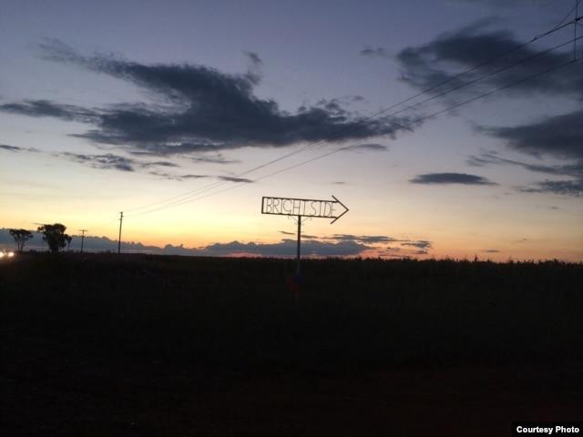 The sun sets over Brightside Farm in the Magalies Mountains, near Johannesburg. (Credit: James Diack)