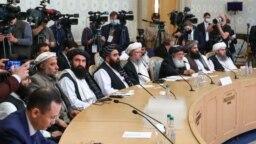 Делегация афганского движения «Талибан» на переговорах в Москве, Россия, 20 октября 2021