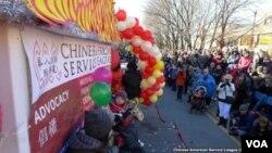 美國芝加哥的華人在中國城慶祝春節。(資料照)