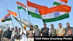 India celebrate airforce attack on Pakistan