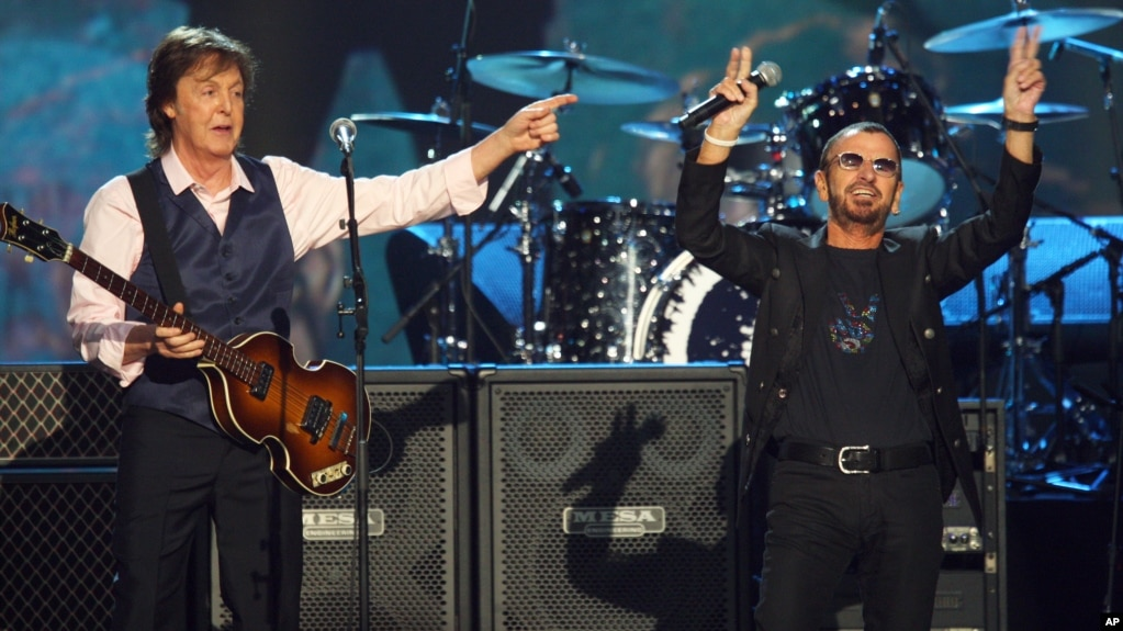 Paul McCartney Left And Ringo Starr Perform At The Night That Changed America