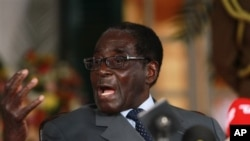 로버트 무가베 짐바브웨 대통령 (자료 사진)