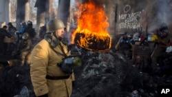 Namoyishchilar Kiyevda, 30-yanvar, 2014-yil