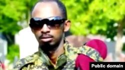 Uyu ni we Callixte Nsabimana, uzwi kw'izina rya Major Sankara