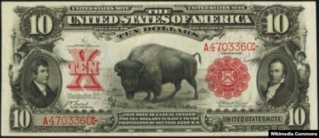 Ten Dollar Currency in use in 1906