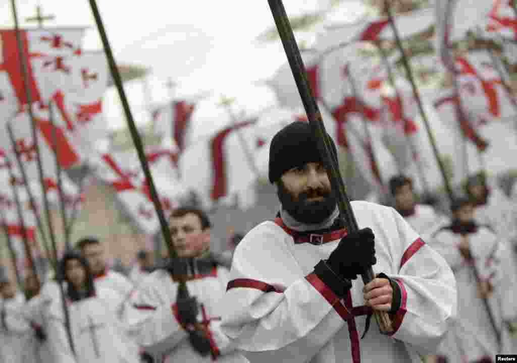 Рождественское шествие в Грузии
