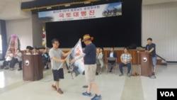 지난 5·6일 이북5도위원회 함경남도 중앙청년회 주최로 통일염원 국토대행진 발대식이 열렸다.