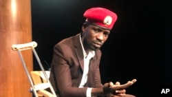 Robert Kyagulanyi, conhecido por Bobi Wine, em Washington