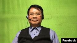 Ông Trần Quốc Khánh thực hiện Livestream về Nhà nước Pháp quyền trên Facebook hôm 6-3-2021. Photo Facebook Tran Quoc Khanh