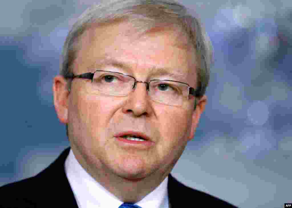 Ngoại trưởng Australia Kevin Rudd nói nước ông sẽ có cùng hành động với EU.