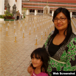 Sapana Sakya with Her Daughter in Thailand