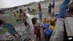 یک کمپ مهاجرین افغان در نزدیکی اسلام آباد مرکز پاکستان