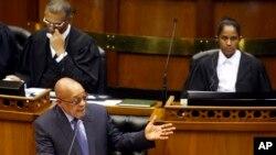 Jacob Zuma devant le Parlement au Cap, Afrique du sud, le 17 mars 2016.