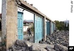 زلزلے سے تباہ حال ایک عمارت