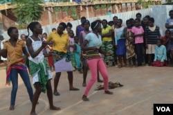 "Jacaranda School students participate in ""dancing show case."""