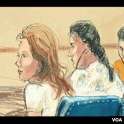 Portret osumnjičenih ruskih špijuna tokom pojavljivanja pred amričkim sudom