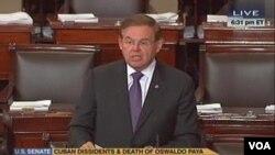 El senador Bob Menéndez destacó que la viuda y la hija de Oswaldo Payá no creen que su muerte fue por causas accidentales.