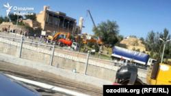 Samarqandda dafn marosimiga tayyorgarlik