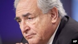 International Monetary Fund (IMF) Managing Director Dominique Strauss-Kahn pauses during the annual IMF and World Bank meetings (Oct 2010 file photo)