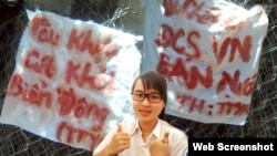 Sinh viên chống Trung Quốc Nguyễn Phương Uyên
