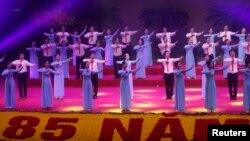 Lễ kỷ niệm 85 năm ngày thành lập Đảng cộng sản Việt Nam tại Hà Nội, ngày 2/2/2015.