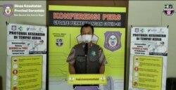 dr. Triyanto Bialangi Juru Bicara Satgas COVID-19 Provinsi Gorontalo. Selasa (21/6/2021), dalam tangkapan layar. (Foto: VOA/Yoanes Litha)