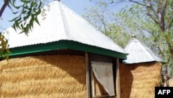 This picture, taken on April 5, 2014, in Tchere shows the hut where Canadian nun Gilberte Bussier was seized in northern Cameroon.
