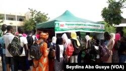 Atelier de formation organisé par le PNT, le 1er avril 2019. (VOA/Seydina Aba Gueye)