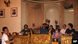 Balinese gamelan ensemble Dharma Swara in rehearsal at the Indonesian Consulate in New York City