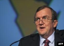 Mark Bristow lors d'une convention au Cap, en Afrique du Sud, le 4 février 2014.