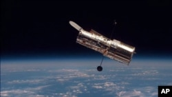 The Earth-orbiting Hubble space telescope (file photo).