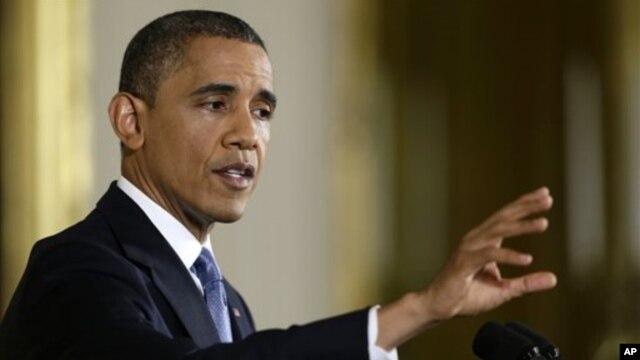 Prezident Barak Obama Oq uyda jurnalistlarning savollariga javob berdi, Vashington, 14-noyabr, 2012-yil