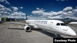 Arhiva - Avion kompanije Montenegro erlajns na Aerodromu Podgorica
