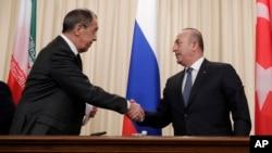 Rossiya, Eron va Turkiya tashqi ishlar vazirlari Moskvada Suriya yuzasidan muloqot qilmoqda, 20-dekabr, 2016-yil