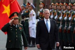 Bộ trưởng Quốc phòng Mỹ Jim Mattis mới có chuyến thăm Việt Nam vào tháng trước và cho biết hai bên đã thảo luận về kế hoạch viếng thăm của hàng không mẫu hạm Mỹ tới Việt Nam.