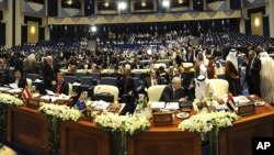 Delegates from 60 nations gathered in Kuwait to consider increased pledges for U.N. humanitarian aid for more than five million civilian victims of the Syria conflict, January 30, 2013.