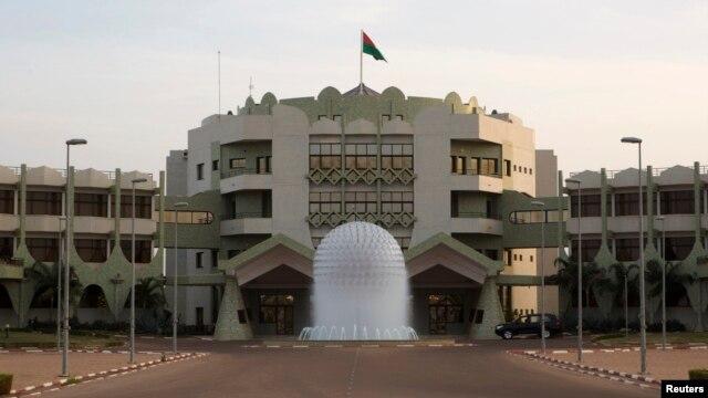 A view shows Burkina Faso's presidential palace in Ouagadougou, Nov. 23, 2014.