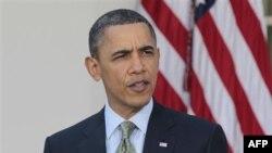 Президент США Барак Обама. Белый дом. Вашингтон. 17 марта 2011 года