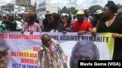 Supporters and activists joined the Itai Dzamara family in remembering him by staging a public march in Harare.