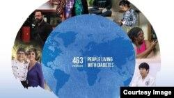 국제당뇨병연맹(IDF)가 지난 14일 공개한 전세계 당뇨병 발병 현황 보고서 표지.