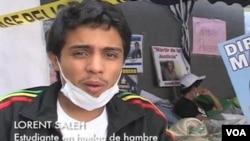 El líder estudiantil Lorent Saleh, enumeró los logros que llevaron al levantamiento de la huelga de hambre.